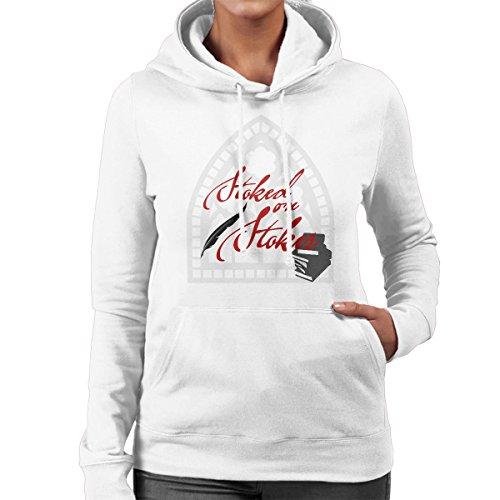 Stoked On Stoker Red Women's Hooded Sweatshirt white