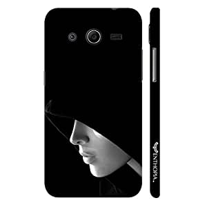 Enthopia Designer Hardshell Case SHADOW IN THE HOOD Back Cover for Samsung Galaxy Core 2