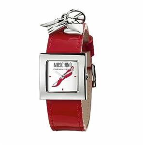Moschino MW0028 - Reloj analógico de mujer de cuarzo con correa de piel roja - sumergible a 30 metros marca Moschino