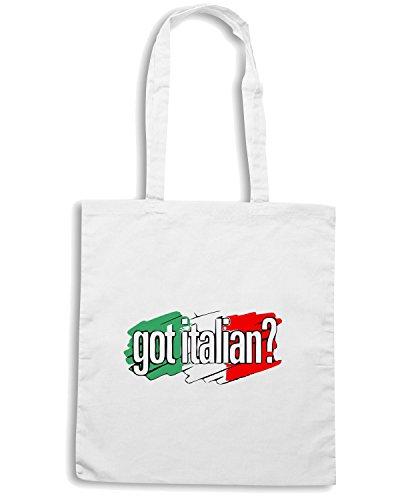 T-Shirtshock - Borsa Shopping OLDENG00095 got italian Bianco