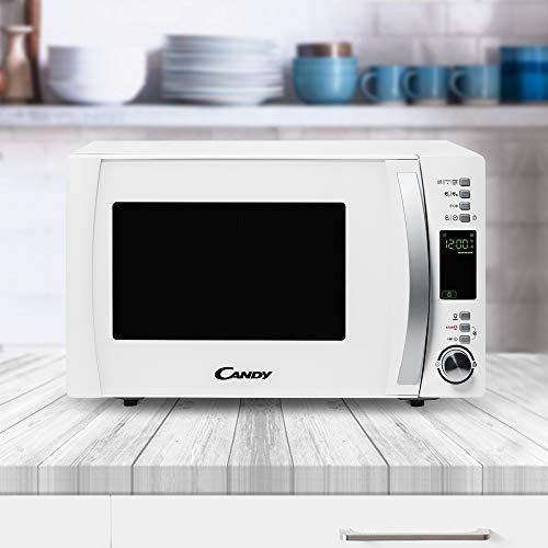 Candy - CMXG 25DCW- Microondas con Grill y Cook In App, 40 Programas Automáticos, 900 W, 25 L, Blanco