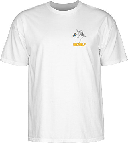 powell-peralta Skateboard Skelett weiß Medium T-Shirt -