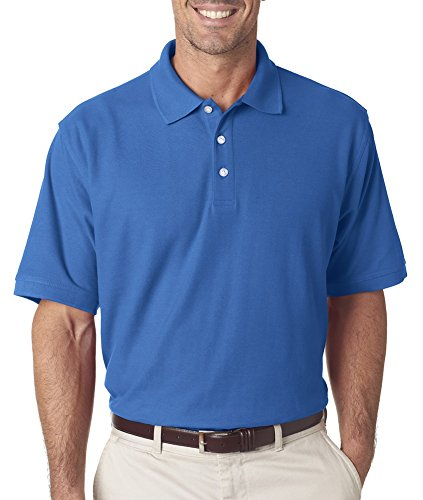ultraclub Herren Platinum Honeycomb Pique Polo (7510) Blau - Bimini Blue