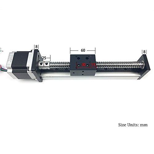 Ball screw linear guide slide module RM1204 SFU1204 with 23 Nema 57 stepper motor SGX series Ball screws Linear module sliding table Motion system. TEN-HIGH 100mm 3.94inch Travel Length
