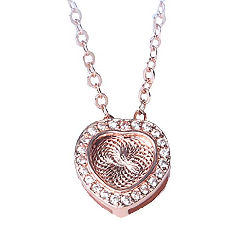 Zoeunique 3Dheart Geformte Crystal Zircon Halskette Für Frauen Silberne Ketten Mode, Wilde Lange Sektion Sweater Kette Herzförmig Weißes Kleid,Gold