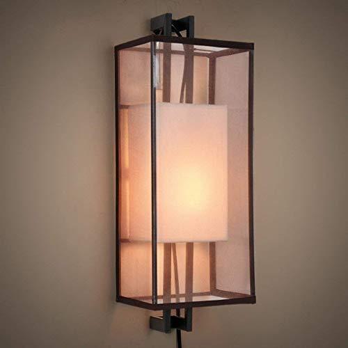 YWJWJ Einfache Moderne Wandlampe des Altertums zum Hotel-Grün-Bett Retro Schlafzimmer-Eisen-Kurs der Beleuchtung