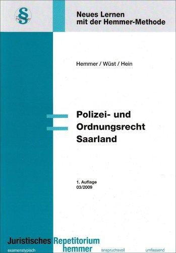 Polizei- und Ordnungsrecht Saarland (Skripten - Ã-ffentliches Recht) by Karl E Hemmer (2009-02-01)
