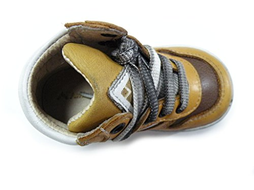 Andrea Morelli Bottines lacets jaune mixte cuir cuir