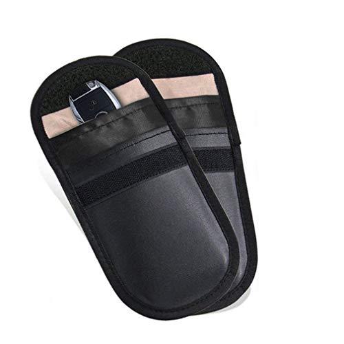 2 St. Autoschlüssel Tasche Keyless Schutz Signal Blocker Tasche Anti-Strahlung Abschirmung Brieftasche Fall -