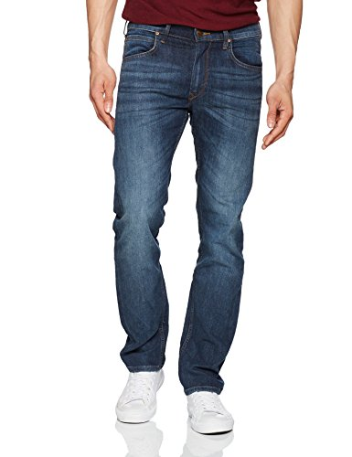 Lee Daren Zip Fly, Jeans Dritto Uomo, Blu (Deep Blue River If), W44/L34