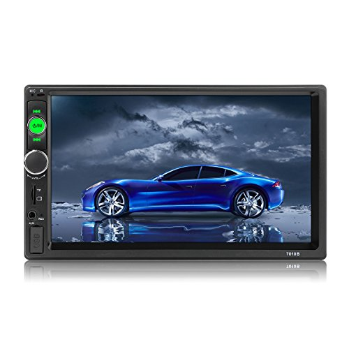 micarba Doppel-DIN-Auto-Stereo-Radio, Video-Player mit USB-AUX, FM MP3 MP4 MP5 Receiver,7-Zoll-Touchscreen, Auto-Audio-Player mit Fernbedienung (CL7010B)