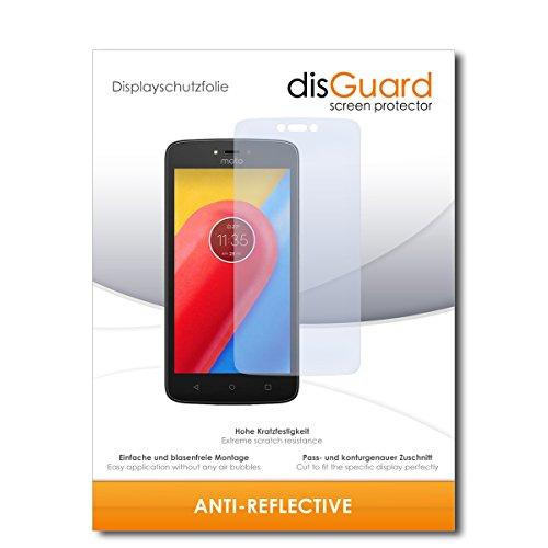 disGuard® Bildschirmschutzfolie [Anti-Reflex] kompatibel mit Lenovo Moto C LTE [2 Stück] Entspiegelnd, Matt, Antireflektierend, Extrem Kratzfest, Anti-Fingerabdruck - Panzerglas Folie, Schutzfolie