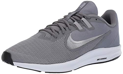 Nike Herren Downshifter 9 Laufschuhe, Grau (Cool Grey/Metallic Silver-Wolf Grey-Black-Pure Platinum-White 001), 42.5 EU