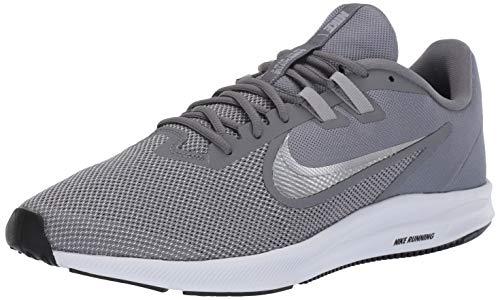 Nike Herren Downshifter 9 Laufschuhe, Grau (Cool Grey/Metallic Silver-Wolf Grey-Black-Pure Platinum-White 001), 44 EU