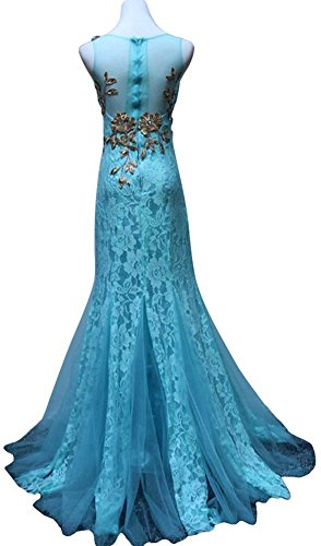 Drasawee Damen Cocktail Kleid Türkis - Blau