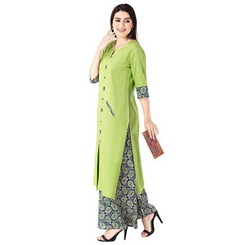 Khushal Women's Rayon Salwar Suit Set (KK-113-Green_XXXL)
