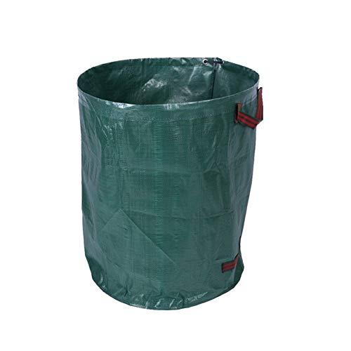 Borse di stoccaggio Sacchi per rifiuti da giardino grandi 272L 1 Pz, Sacchi per rifiuti rifiuti impermeabili con manici, Borse per erba in foglie antistrappo per la cucina di casa all'aria aperta