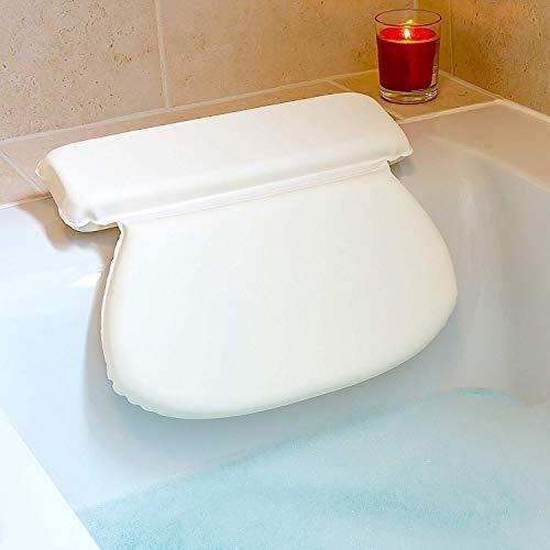 Wooden-Life Badewannenkissen - Komfort Badekissen/Ideales Badewannenkopfkissen - Weiches Badekissen für eine Traumhafte Zeit in der Badewanne oder im Whirlpool mit Nackenkissen