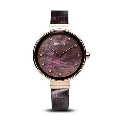 BERING Reloj Analógico para Mujer de Cuarzo con Correa en Acero Inoxidable 12034-265 de BERING