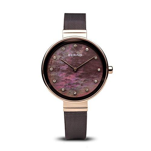 BERING Reloj Analógico para Mujer de Cuarzo con Correa en Acero Inoxidable 12034-265