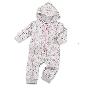 62 Lily /& Jack Baby Overall schwarz Gr/ö/ße: 0-3 Monate Motiv: Pinguin Tierstrampler mit Kapuze f/ür Neugeborene /& Kleinkinder