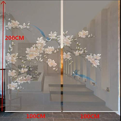 ANAN Raumaufteilung Biombo Bildschirm Design Fenster Trennwand Vorhang durchscheinend Wohnzimmer hängenden Vorhang weichen blauen Emaille,2pcs -