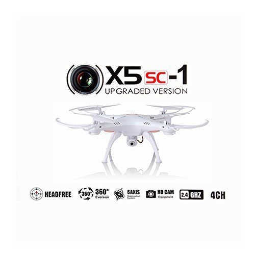 Syma X5SC Upgraded New Show Syma X5SC-1 Falcon Drone HD 2.0MP Camera 4 Trough 2.4G Outer reaches Authorization Quadcopter 6 Axis 3D Mooring into Fly UFO 360 To a esoteric overflowing Eversion With 4GB SD Postcard (Snowy)