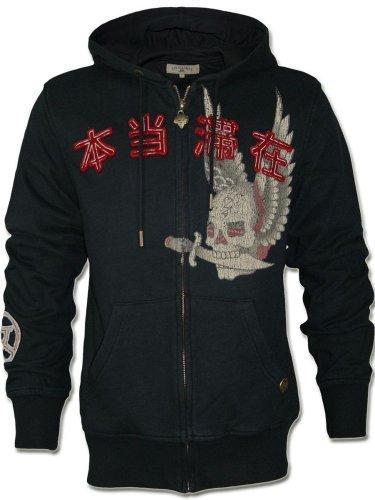 Preisvergleich Produktbild ED HARDY Herren Designer Hoody Jacke - DESTINY WING - KOLLEKTION 2012 -S