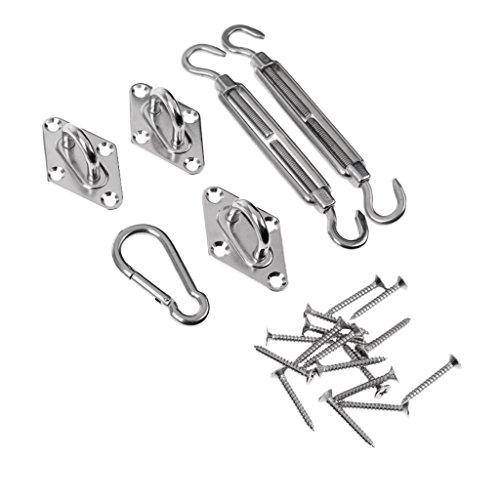 Sharplace Kit De Fixation Complet Pour Triangle Carré En Acier Inoxydable