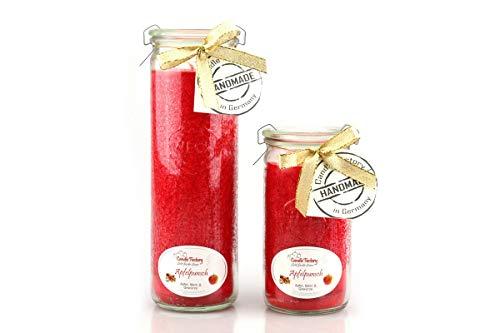 Candle Factory Duftkerze im Weckglas Big Jumbo Duft: Erdbeer Rhabarber