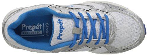 Propet XV550 étroit Synthétique Chaussure de Course White-Royal Blue