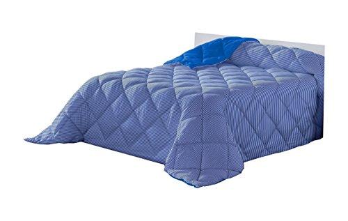 Lucena Cantos Nórdico LÍNEA, Edredón, Reverso combinado, fibra 400 gr, Azul (Blue), Cama 105, 180x270
