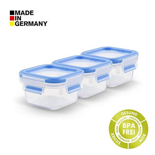 Tefal K43508 Frischhaltedose Set 3x 0,25 L Clip und Close (BPA-Frei, Luftdicht, Frischhaltebox mit Deckel, 100% dicht, Auslaufsicher, Spülmaschinenfest, mikrowellengeeignet, Made in Germany) -