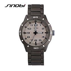 SINOBI Luxury Stainless Steel Fashion Automatic Date Men Watch