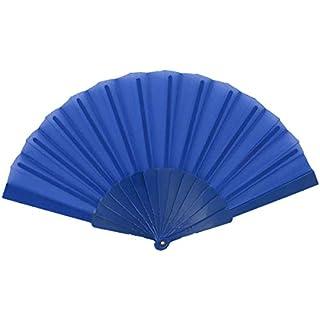 Alsino Handfächer Fächer Flamenco Tanzfächer Klappfächer Fae-08 - Farbe: Dunkelblau, Länge geschlossen: 23 cm, Spannweite: 43 cm