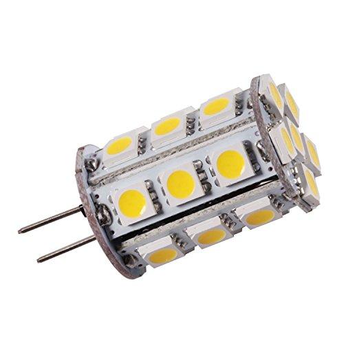 Grv G4bi-pin JC base LED Lampadina alogena 24-5050SMD ad alta potenza LED lampada AC/DC 12V-24V, Warm White, g4, 2.60 W 12.00 voltsV