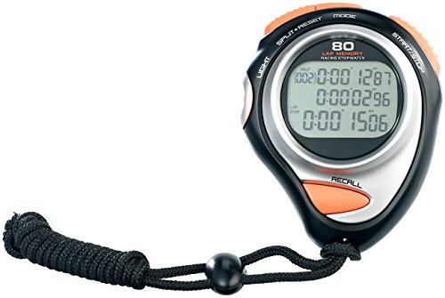 PEARL sports Fitness-Stoppuhr Premium, 3-Zeilen-Display, 30 Speicher