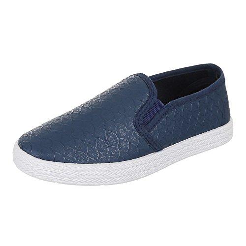 Kinder Schuhe, 946-1, BALLERINAS SLIPPER Blau