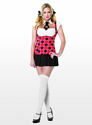 hool Cutie Kostüm 2-teilig - 83479, Farbe:Rot/Schwarz;Groesse:XS (Prep School Kostüm)