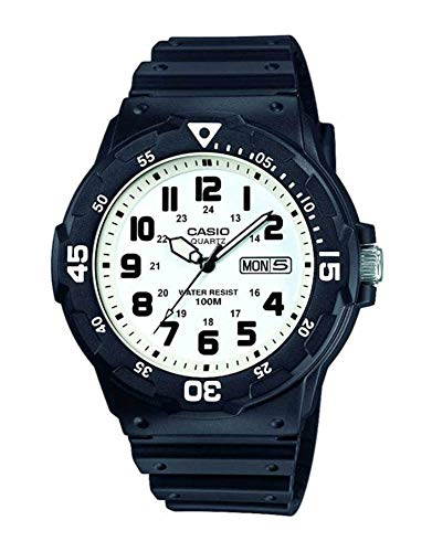 Casio Collection Herren-Armbanduhr MRW200H7BVEF, schwarz/Weiß