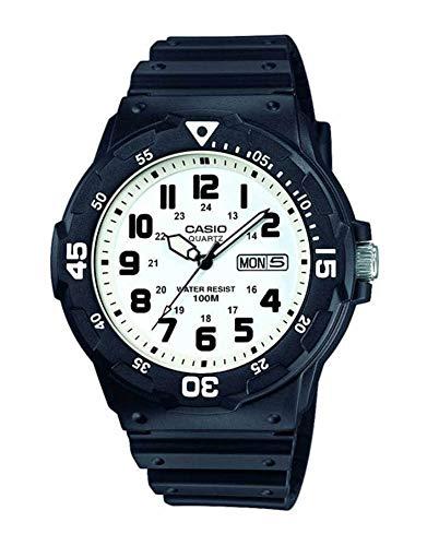 Casio orologio analogico quarzo uomo con cinturino in resina mrw-200h-7bvef
