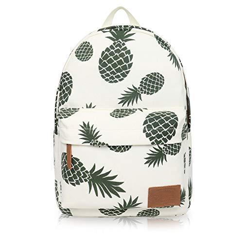 Canvas Umhängetasche Outdoor Druck Ananas Rucksack Fashion Student Bag Reiserucksack Pineapple Buns - Bun Mädchen Deckel