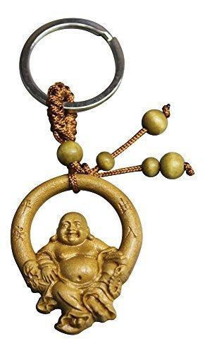 Buddha Anhänger | Buddha Anhänger Holz | Glücksbringer Schlüsselanhänger | Glücksbringer Auto | Glücksbringer Anhänger | Rosenholz | Buddha Geschenkidee aus Rosenholz | Hotai | Huanghuali