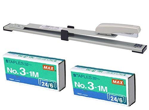 max-305-cm-lungo-braccio-cucitrice-hd-35l-per-rilegatura-comprende-2-scatole-no-3-1-m-staples