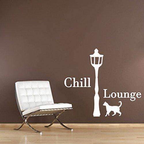 WandschnörkelAA087 Wandtattoo Chill Lounge Wandaufkleber Wohnzimmer Schlafzimmer Kinderzimmer