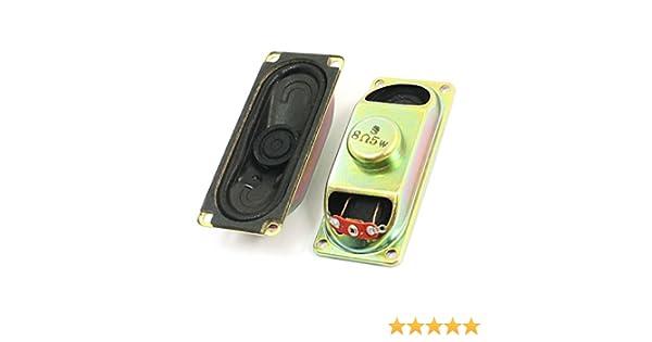 Sourcingmap/® Lot de 2 Haut-Parleur 5 W 8 Ohm magn/étique Haut-Parleur de 70 mm x 30 mm pour TV Player
