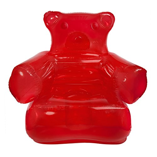 Thumbs up! infgumchr poltrona gonfiabile gummy bear chair, pvc, rosso