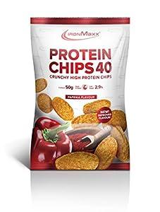 IronMaxx Protein Chips - Tüte - Paprika (Neu), 10er Pack(10 x 50 grams)
