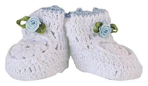 Mopec Patuco Decorativo de Ganchillo Hechos a Mano, Pack de 6 Unidades, Crochet, Blanco, 3.50x6.50x4.00...