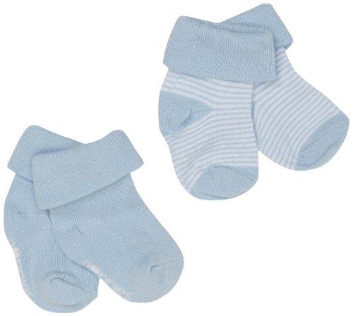 Noppies Baby -Socken B Socks 2pck Guzzi, Einfarbig, Gr. Neugeborene (Herstellergröße: 0-3), Blau (Light Blue)